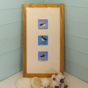 Original painting of oystercatchers isle of wight