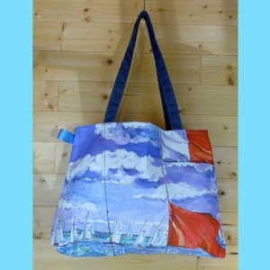 Cotton tote bag with Cowes print, made on Isle of Wight.