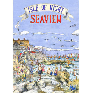 retro style isle of wight poster of seaview