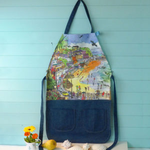 Ventnor Bay apron, made on the Isle of Wight