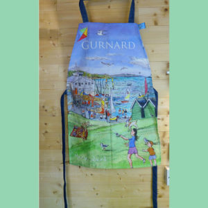 Gurnard Bay apron sewn on the Isle of Wight
