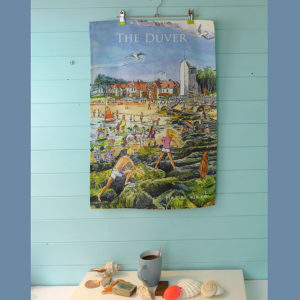 tea towel featuring St Helens, on the isle of wight