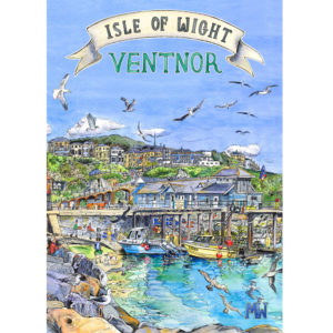 retro style isle of wight poster of Ventnor haven