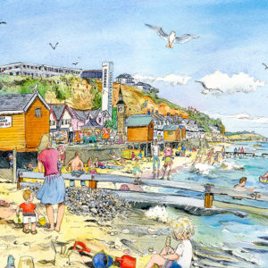 Victorian Shanklin hotels and beach huts Isle of Wight